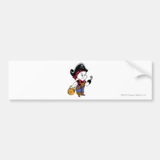 Casper in Pirate Costume Bumper Sticker