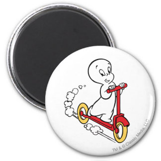Casper Riding Scooter 2 Inch Round Magnet
