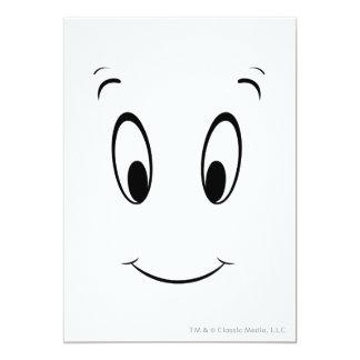 """Casper Smiley Face 5"""" X 7"""" Invitation Card"""