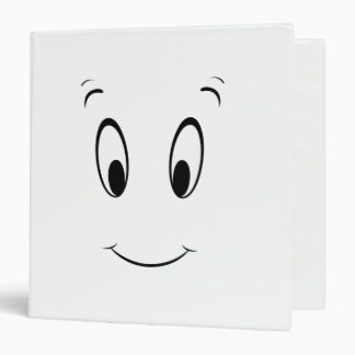 Casper Smiley Face Vinyl Binder