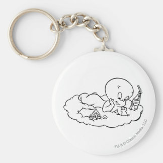 Casper Snacking on Cloud Keychain