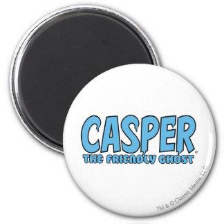 Casper the Friendly Ghost Blue Logo 1 2 Inch Round Magnet