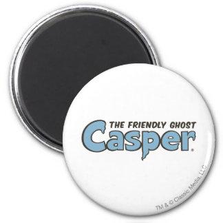Casper the Friendly Ghost Blue Logo 2 2 Inch Round Magnet