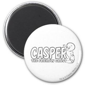 Casper the Friendly Ghost Logo 2 2 Inch Round Magnet