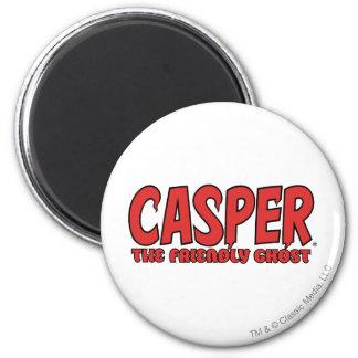 Casper the Friendly Ghost Red Logo 1 2 Inch Round Magnet