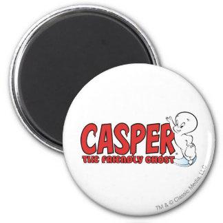 Casper the Friendly Ghost Red Logo 2 2 Inch Round Magnet