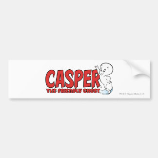 Casper the Friendly Ghost Red Logo 2 Bumper Sticker