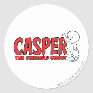 Casper the Friendly Ghost Red Logo 2 Classic Round Sticker