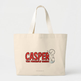 Casper the Friendly Ghost Red Logo 2 Large Tote Bag