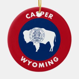 Casper, Wyoming Ceramic Ornament
