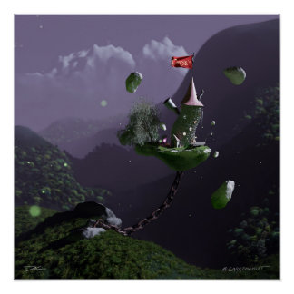 Casper's Curios - The Floating Wizard Tower -Night Poster