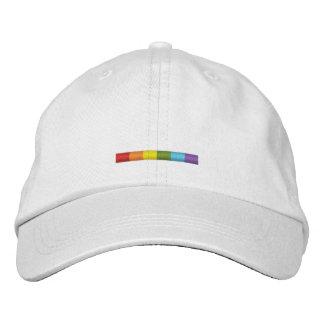 Casquette brodé de barre de gay pride (rayure casquette de baseball