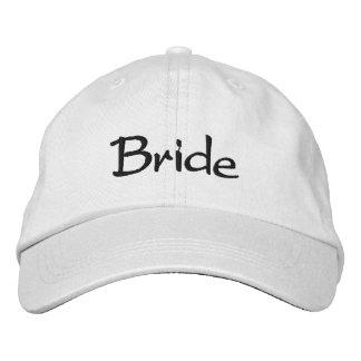 Casquette brodé de jeune mariée casquette de baseball brodée
