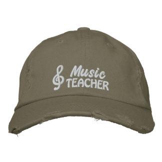 Casquette brodé de professeur de musique casquette de baseball brodée
