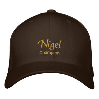 Casquette/chapeau de nom de Nigel Casquettes De Baseball Brodées