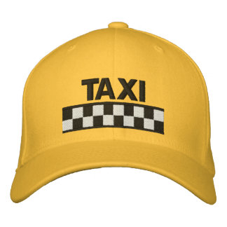 Casquette de baseball brodée Checkered de TAXI
