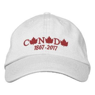 Casquette de baseball brodée du Canada 150