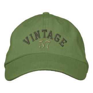 Casquette de baseball brodée par année vintage