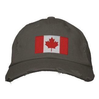 Casquette de baseball canadienne de drapeau