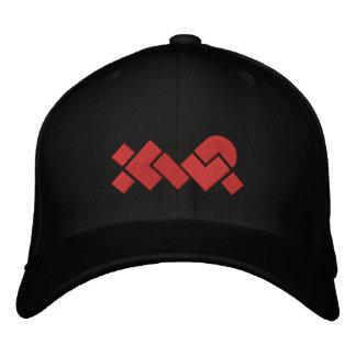 Casquette de baseball noire/rouge brodée de XWP