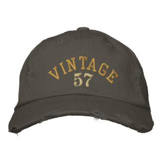 Casquette de baseball vintage de coutume d'année