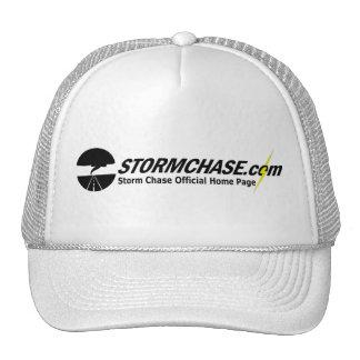 casquette de boule de StormChase.com (blanc)