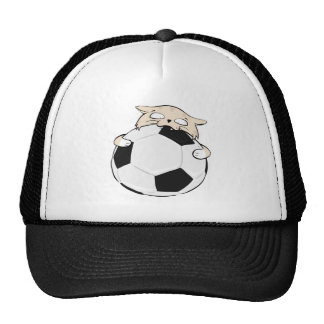 Casquette de camionneur de chat du football