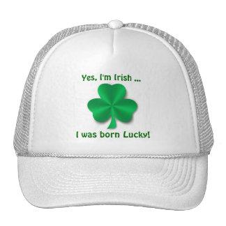 Casquette de golf irlandais chanceux de shamrock