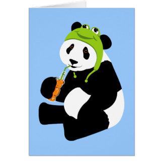 Casquette de grenouille de panda (anniversaire) carte de correspondance