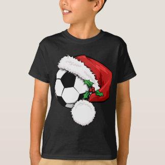 Casquette de Père Noël de ballon de football T-shirt