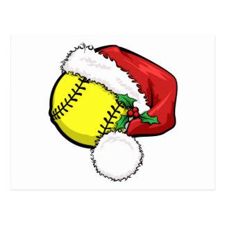 Casquette de Père Noël du base-ball Carte Postale