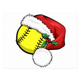 Casquette de Père Noël du base-ball Cartes Postales