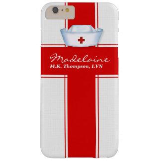 Casquette d'infirmières dans la coutume rouge et coque iPhone 6 plus barely there