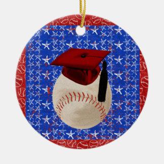 Casquette d'obtention du diplôme de base-ball, ornement rond en céramique