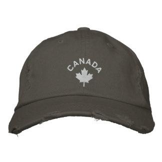 Casquette du Canada - chapeau blanc de feuille d'é Casquettes De Baseball Brodées