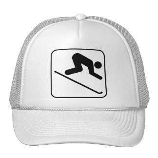 Casquette incliné de symbole de ski