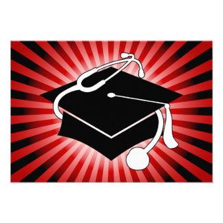 casquette médical d'obtention du diplôme éclaté pa invitations