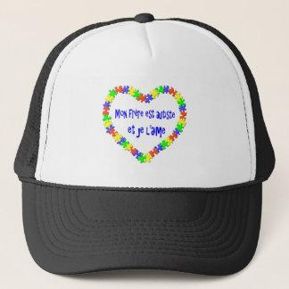 Casquette Mon frère est autiste et je l'aime Trucker Hat