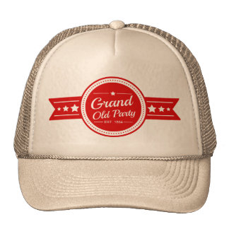 """Casquette républicain vintage de """"Grand Old Party"""""""