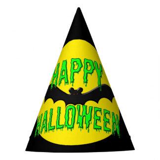 """Casquettes de partie - timbré """"Halloween heureux """" Chapeaux De Fêtes"""