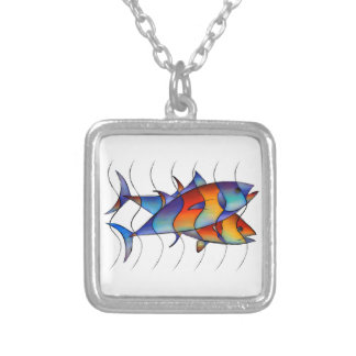Cassanella - dream fish silver plated necklace