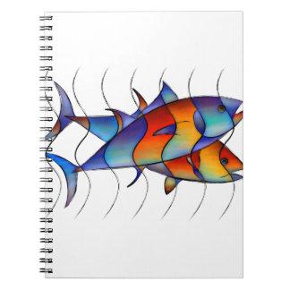 Cassanella - dream fish spiral note books