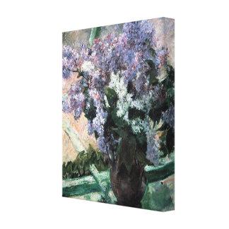 "Cassatt's ""Lilacs in a Window"" Canvas Print"