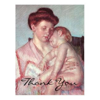 Cassatt's Sleepy Baby Postcard