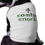 Casse-croûte de zombi - pièce en t d'animal famili tee-shirts pour animaux domestiques