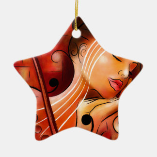 Casselopia - Violin dream Ceramic Ornament
