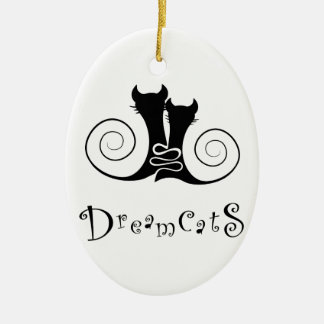 Casseminia - dreamcats with text ceramic ornament