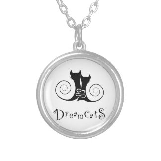 Casseminia - dreamcats with text silver plated necklace