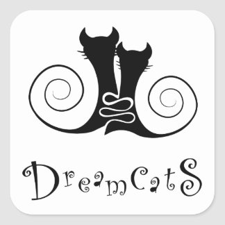 Casseminia - dreamcats with text square sticker