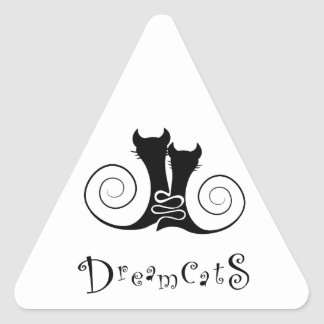 Casseminia - dreamcats with text triangle sticker